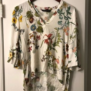 Zara Tops - Zara Women botanical high low top